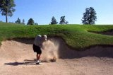 hitting out of sand trap