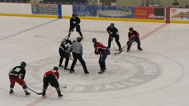 ice hockey faceoff