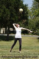 volleyball overhand serve